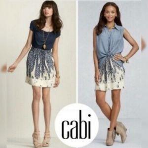 "CAbi 401 ""Bella"" Leopard Print Elastic Waist Skirt"